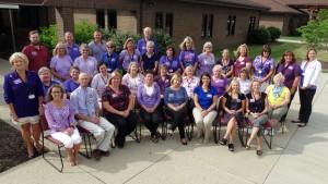 CSS staff members wore purple to commemorate World Elder Abuse Awareness Day.