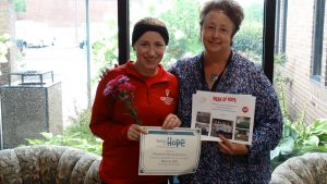 Week of Hope Volunteer Coordinator, Kirsten Johnson and Clermont Senior Services Volunteer Coordinator, Kathy Angel.
